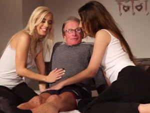 Mlade kurvice i deda
